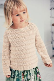 Stripe Metallic Jumper (3mths-6yrs)