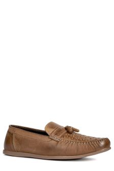 Leather Weave Tassel Loafer