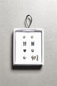 Initial Earrings Four Pack