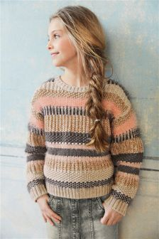 Stripe Fluffy Sweater (3-16yrs)
