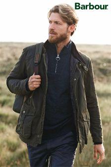 Barbour® Khaki Leeward Wax Jacket