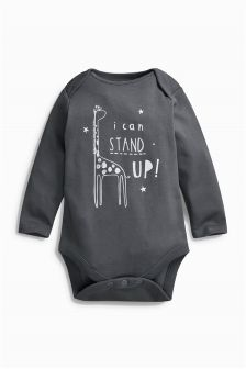 Long Sleeve Stand Up Bodysuit (6-18mths)