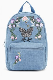 Butterfly Embroidered Rucksack