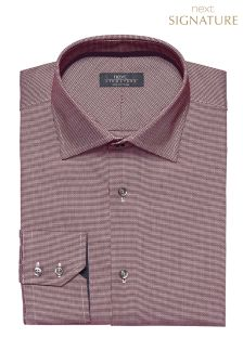 Signature Textured Weave Slim Fit Shirt