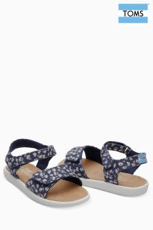 Toms Navy Ditsy Strap Sandal