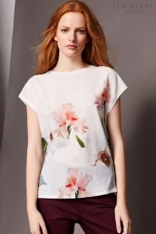 Ted Baker Mellini White Bloom Woven Tee