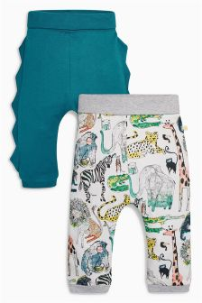 Roll Top Joggers Two Pack (0mths-2yrs)
