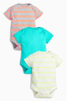 Colourful Stripe Bodysuits Three Pack (0mths-2yrs)