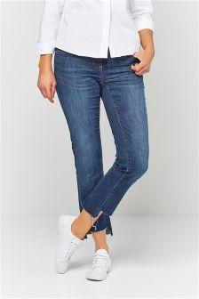 Step Hem Authentic Slim Jeans