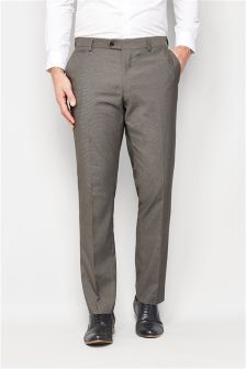 Gingham Slim Fit Trousers