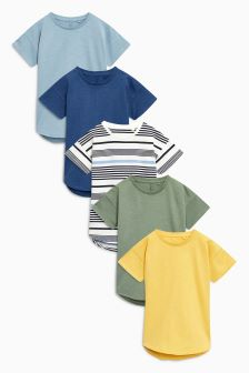Short Sleeve T-Shirts Five Pack (3mths-6yrs)