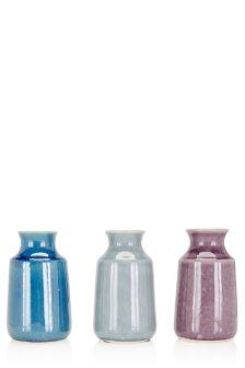 Set Of 3 Earthenware Vases
