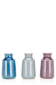 Set of 3 Ceramic Vases