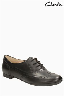 Clarks Black Leather Carousel Trick Brogue