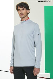 Nike Golf Grey DriFit 1/2 Zip Top