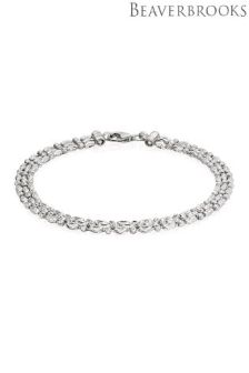 Beaverbrooks Silver Three Row Bracelet