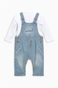 Stripe Dungarees And Bodysuit Set (0mths-2yrs)
