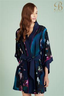 Ted Baker Navy Floral Kimono Robe