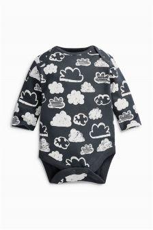 Long Sleeve All Over Print Cloud Bodysuit (0-18mths)