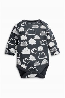 Long Sleeve All Over Print Cloud Bodysuit (0-18mths)