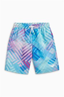 Geo Print Swim Shorts (3-16yrs)