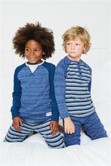 Stripe Marl Pyjamas Two Pack (3-16yrs)