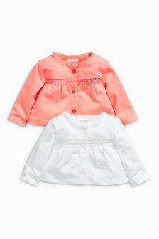 Jersey Cardigans Two Pack (0mths-2yrs)