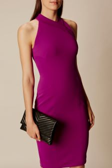 Karen Millen Pink Extreme Cut Out Pencil Dress