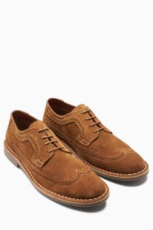 Suede Brogue Desert Shoe