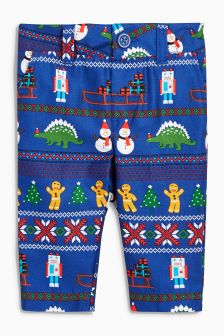 Christmas Print Trousers (3mths-6yrs)