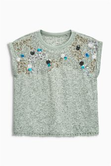 Embellished Short Sleeve T-Shirt (3-16yrs)