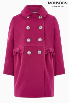 Monsoon Bright Pink Penny Coat
