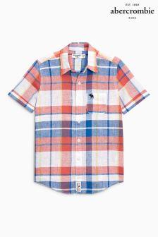 Abercrombie & Fitch Short Sleeve Linen Shirt