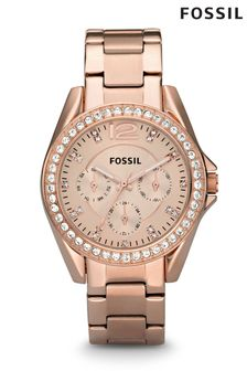 Fossil™ Riley Rose Gold Watch
