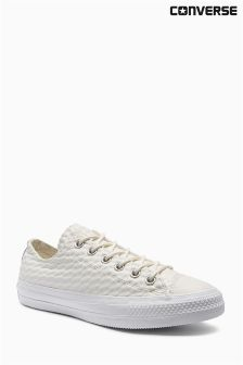Converse Chuck Taylor White Craft Leather Lo
