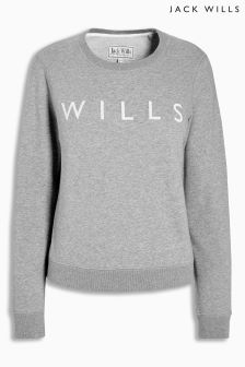 Jack Wills Grey Pulborough Classic Crew