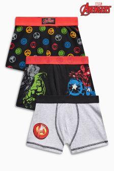Marvel Trunks Three Pack (2-12yrs)