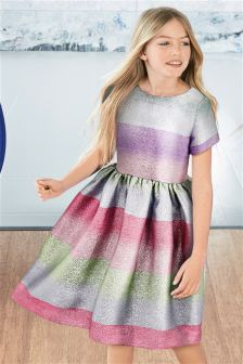 Sparkle Striped Dress (3-16yrs)