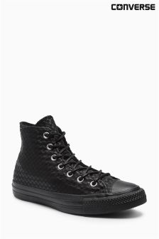 Converse Chuck Taylor Black Craft Leather Hi