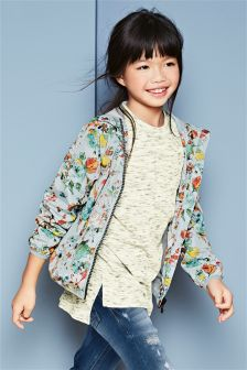 Floral Print Cagoule (3-16yrs)