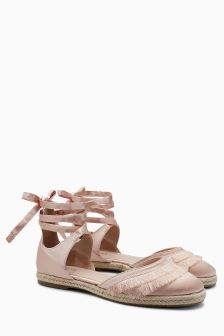 Fringe Two Part Sandals