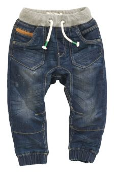 Rib Waist Jersey Lined Jeans (3mths-6yrs)