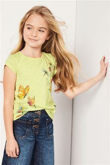 Butterfly Print T-Shirt (3-16yrs)