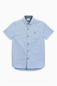 Short Sleeve Stripe Shirt (3-16yrs)