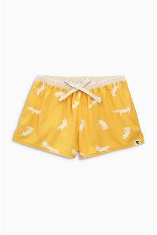 Cosy Fox Print Shorts