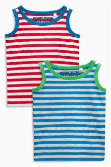 Stripe Vests Two Pack (3mths-6yrs)