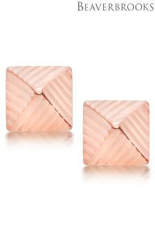 Beaverbrooks 9ct Rose Gold Pyramid Earrings