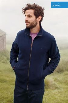 Joules French Navy Cove Zip Through Sweat