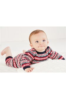 Fairisle Pattern Romper (0mths-2yrs)