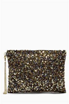 Zip Top Clutch Bag